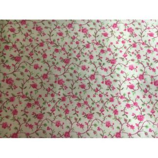 Calico Prints Bright Pink Flowers