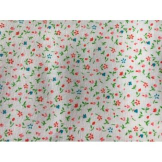 Calico Prints Light Red & Blue Flowers