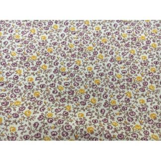 Calico Prints Yellow & Purple Flowers