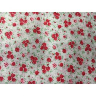 calico prints red flowers