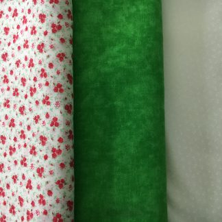 green fabric bundle