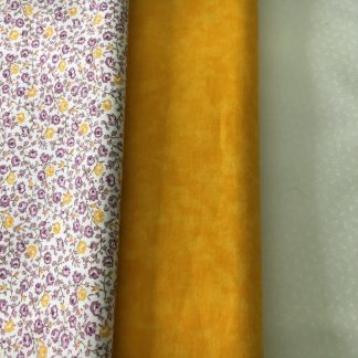 yellow fabric bundle